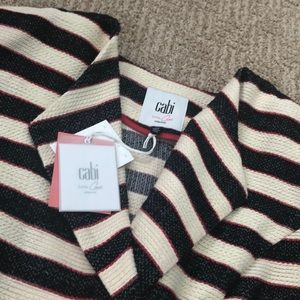 NWT CAbi Cropped Double Breasted Jacket